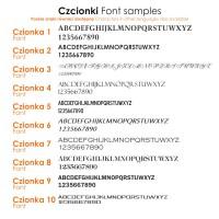 Spinki do mankietów z monogramem na Onyksie | srebro 925 | Dostępne w 10 czcionkach | ZD.70