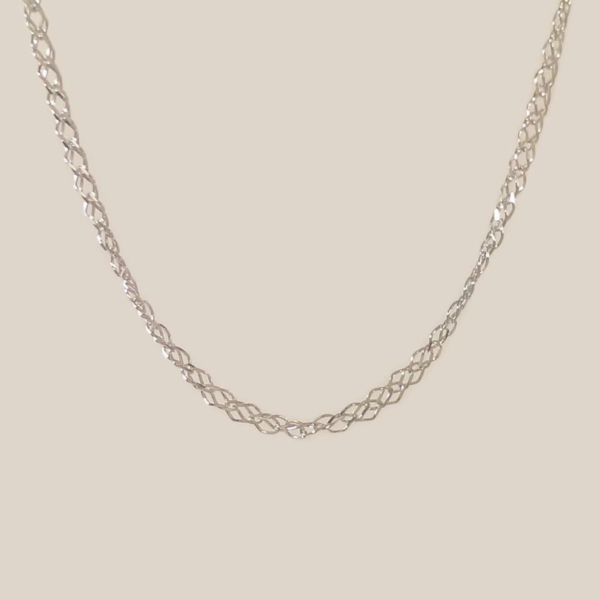 Srebrny łańcuszek Singapur | srebro 925