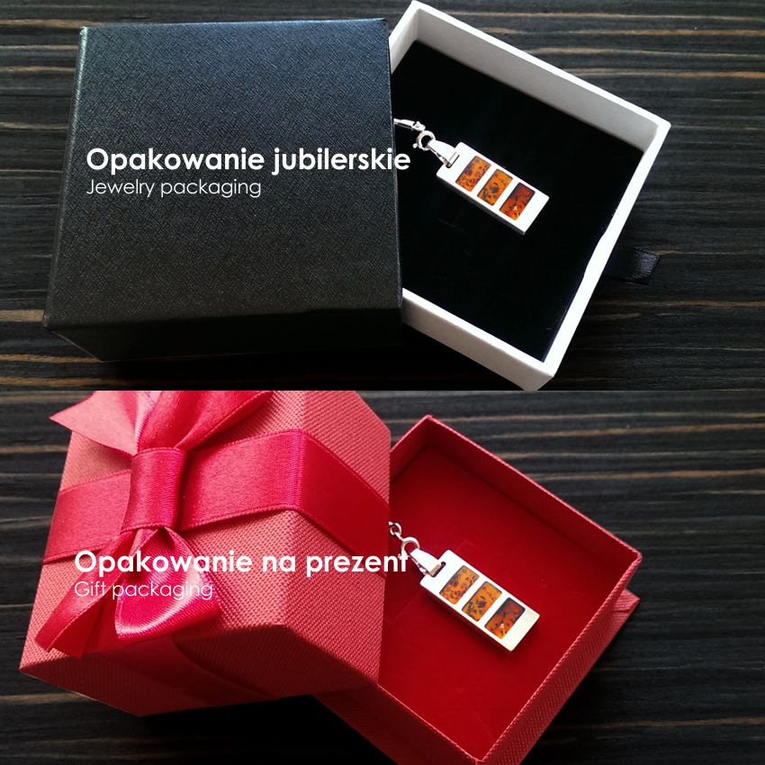 Pendrive naszyjnik | Desire 64GB USB 2.0 | srebro 925 | kryształy Swarovskiego | Srebrny łańcuszek 45cm