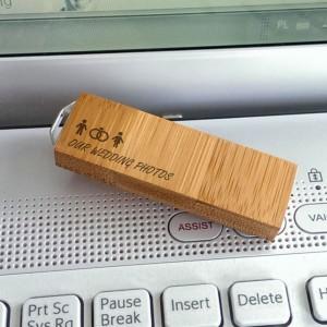ECO pendrive | Bamboo 64GB USB 3.0 | posrebrzana zawieszka