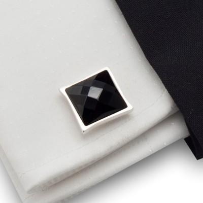 Spinki do mankietów z onyksem | srebro 925 | ZD.33