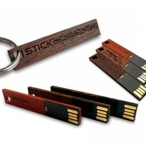 The Stick fajny pendrive | 8GB USB 2.0 | Trzy rodzaje drewna