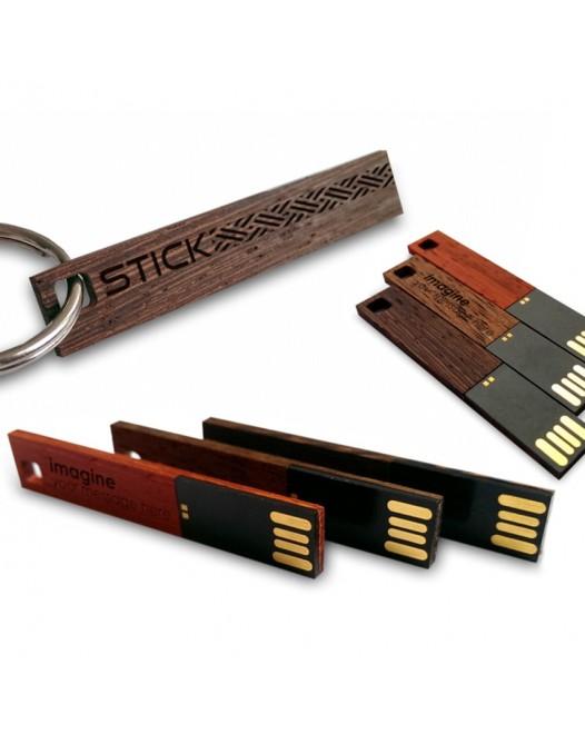 The Stick fajny pendrive | 8~64GB USB 2.0 | Trzy rodzaje drewna