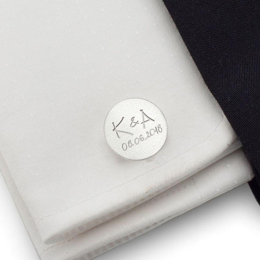 Spinki do mankietów z grawerem | Z Twoim odręcznym pismem / dedykacją | srebro 925 | ZD.151