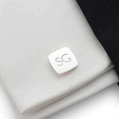 Srebrne spinki do mankietów z inicjałami | srebro 925 | Dostępne w 10 czcionkach | ZD.96