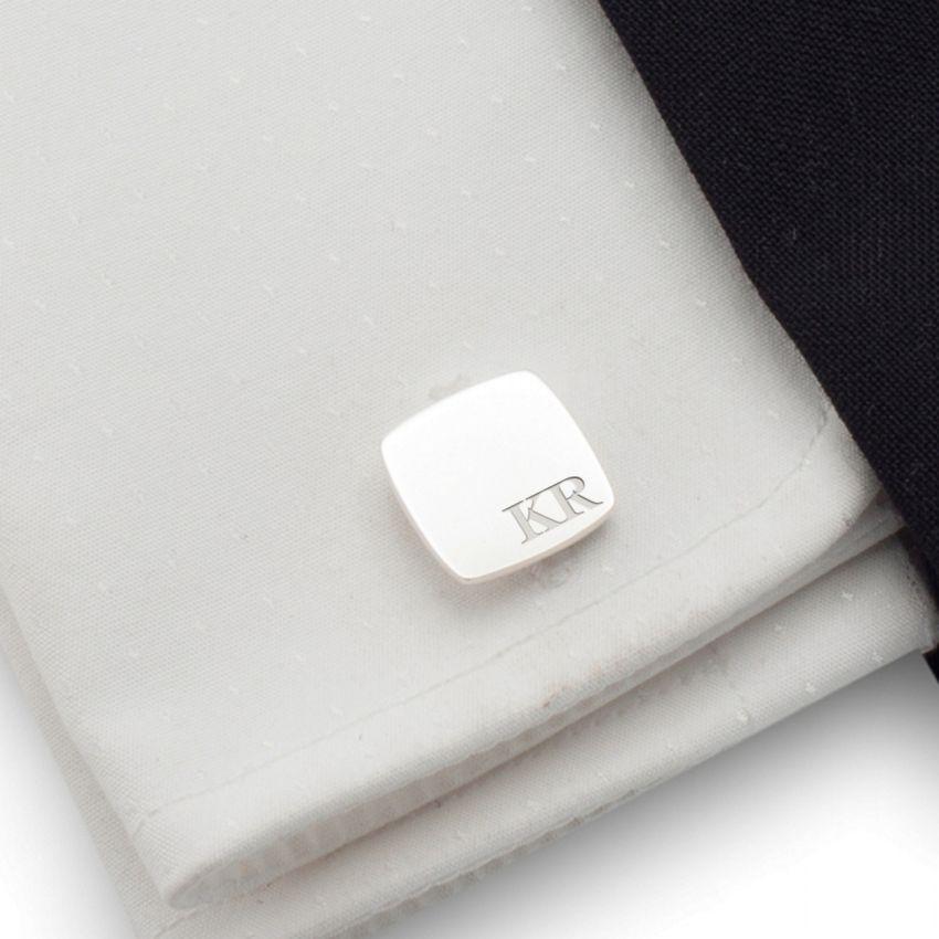 Srebrne spinki do mankietów z inicjałami | srebro 925 | Dostępne w 10 czcionkach | ZD.97