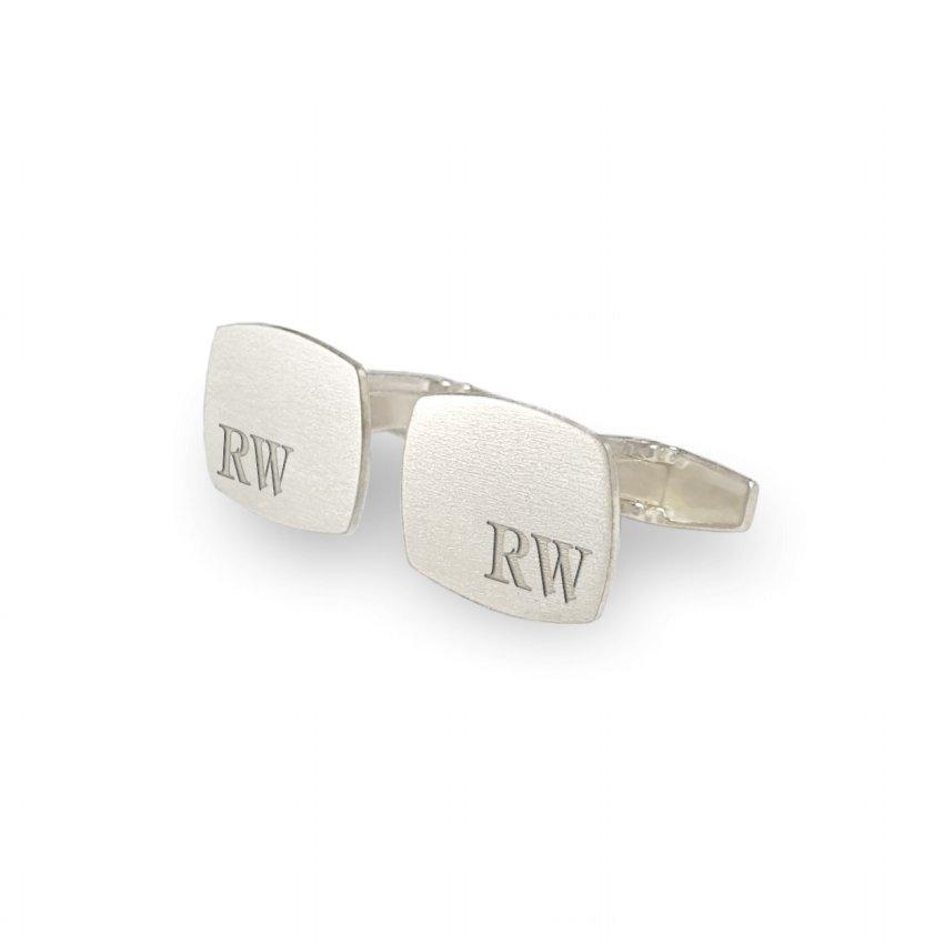 Srebrne spinki do mankietów z inicjałami | srebro 925 | Dostępne w 10 czcionkach | ZD.221
