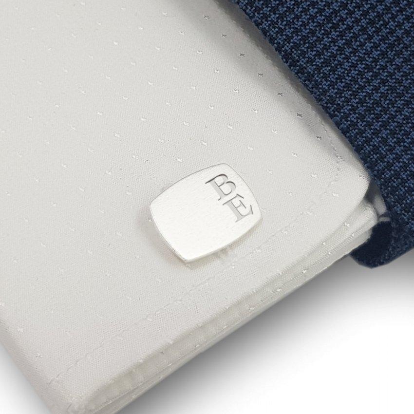 Srebrne spinki do koszuli z inicjałami | srebro 925 | Dostępne w 10 czcionkach | ZD.220