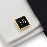 Spinki do koszuli z inicjałami Prezent dla Niego | srebro 925 | Dostępne w 10 czcionkach | ZD.205